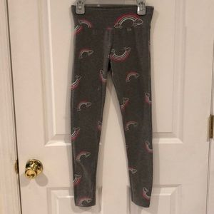 Justice Grey Rainbow Leggings Size 10